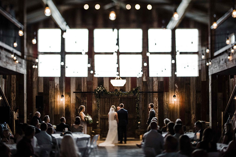 Photo by Austin Day of ceremony at Red Acre Barn